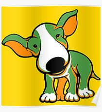 Irish Bull Terrier Puppy  Poster