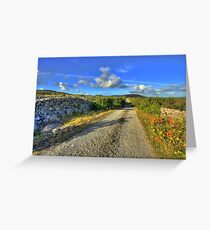 Old Burren Road Greeting Card