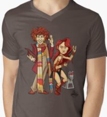 The Doctor, The Warrior, and K-9 Men's V-Neck T-Shirt