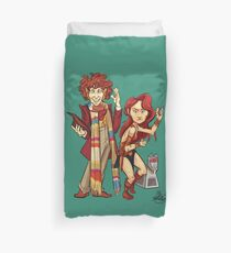 The Doctor, The Warrior, and K-9 Duvet Cover