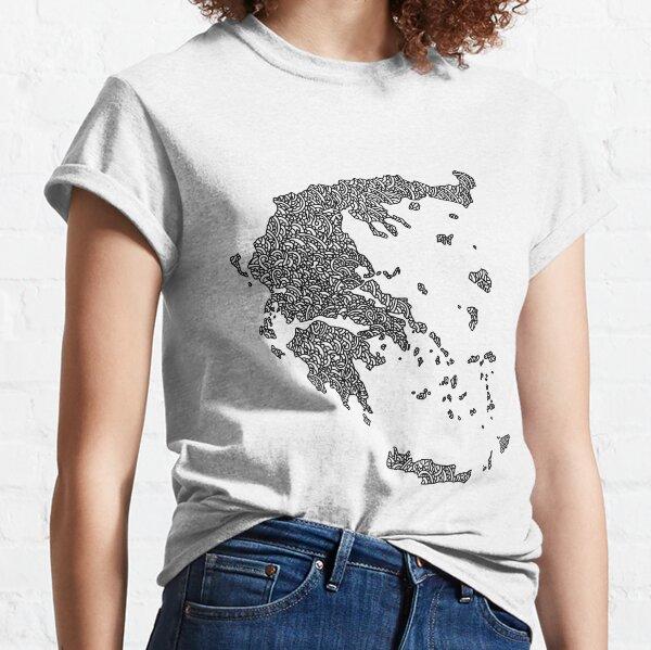 Greece Map Design Classic T-Shirt