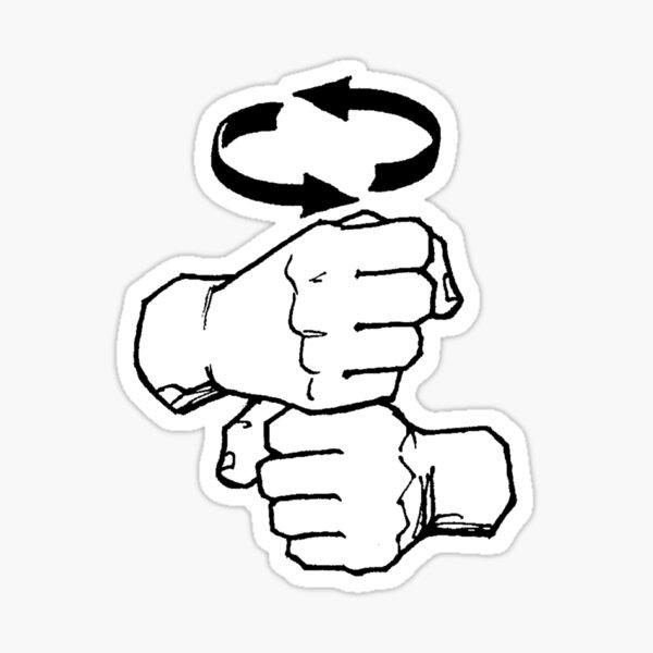 Coffee - American Sign Language  Sticker