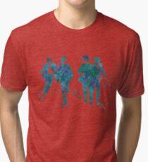 Beatles Paint Splatter Design Tri-blend T-Shirt