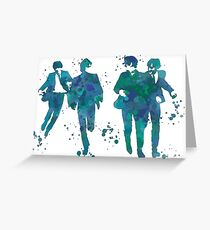 Beatles Paint Splatter Design Greeting Card