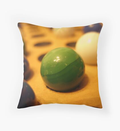 My Marbles! Throw Pillow
