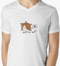 sei nicht traurig !!! sei glücklich!! T-Shirt mit V-Ausschnitt