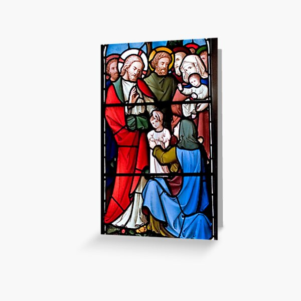 Stained Glass Window 0023 Greeting Card