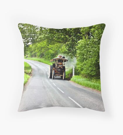 Along The Country Road Throw Pillow