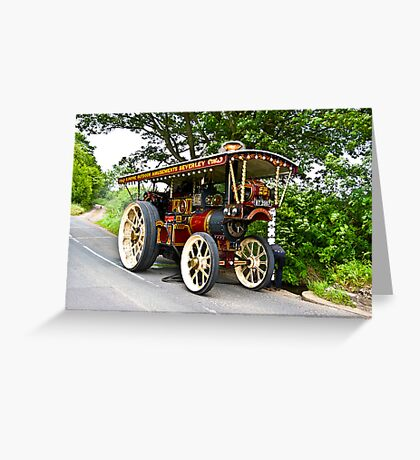 Steam Traction Engine #1 Greeting Card