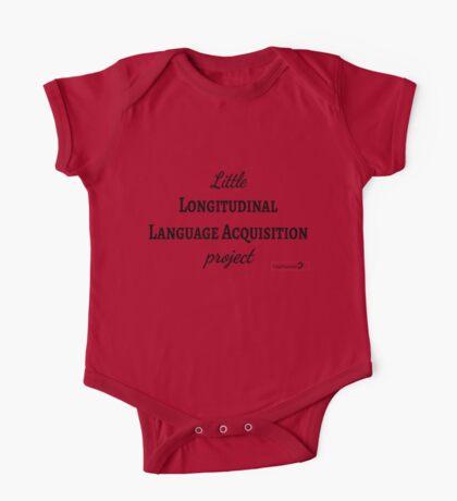 Little Longitudinal Language Acquisition Project (black text) - for baby linguists Kids Clothes