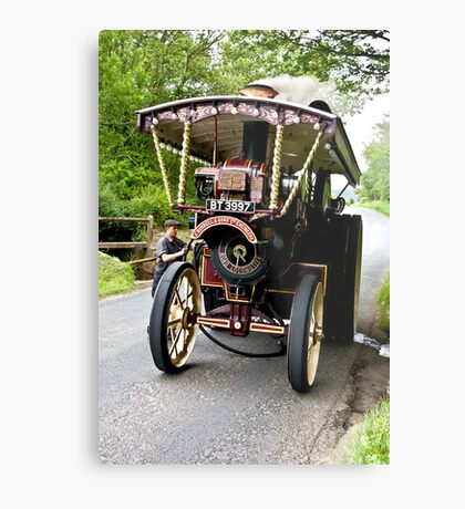 Steam Traction Engine #2 Metal Print