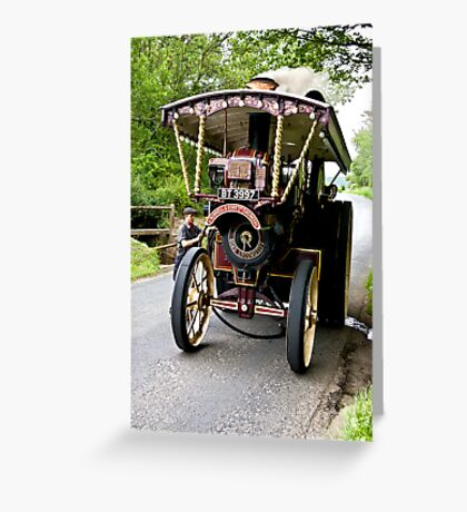 Steam Traction Engine #2 Greeting Card
