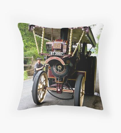 Steam Traction Engine #2 Throw Pillow