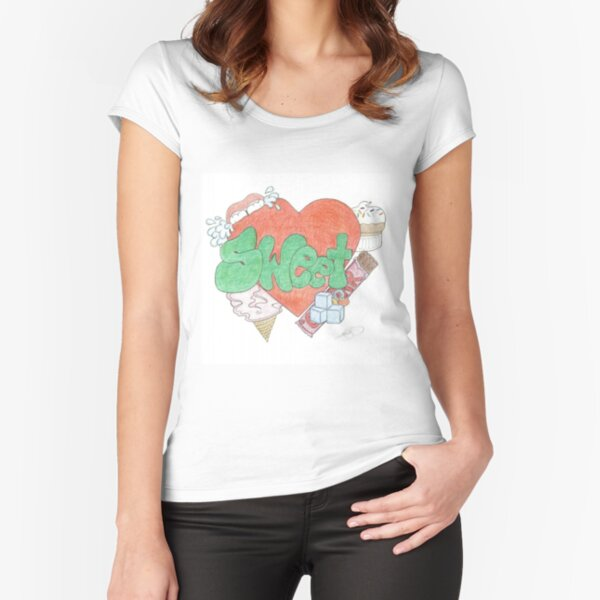 06. Rhaim Santiago -4096x3510 Fitted Scoop T-Shirt