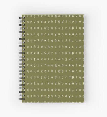 IPA notebook - olive and white Spiral Notebook