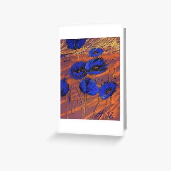 blauer Mohn Greeting Card
