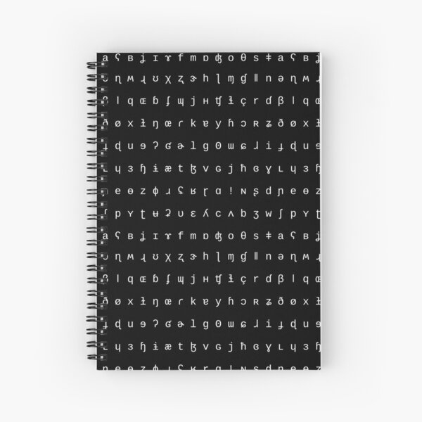IPA notebook - black and white Spiral Notebook