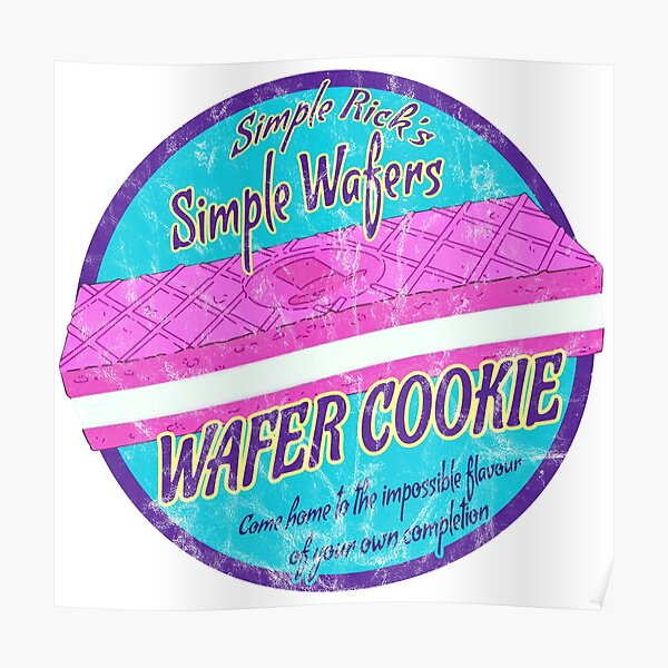 Simple Rick Wafer Cookie Poster