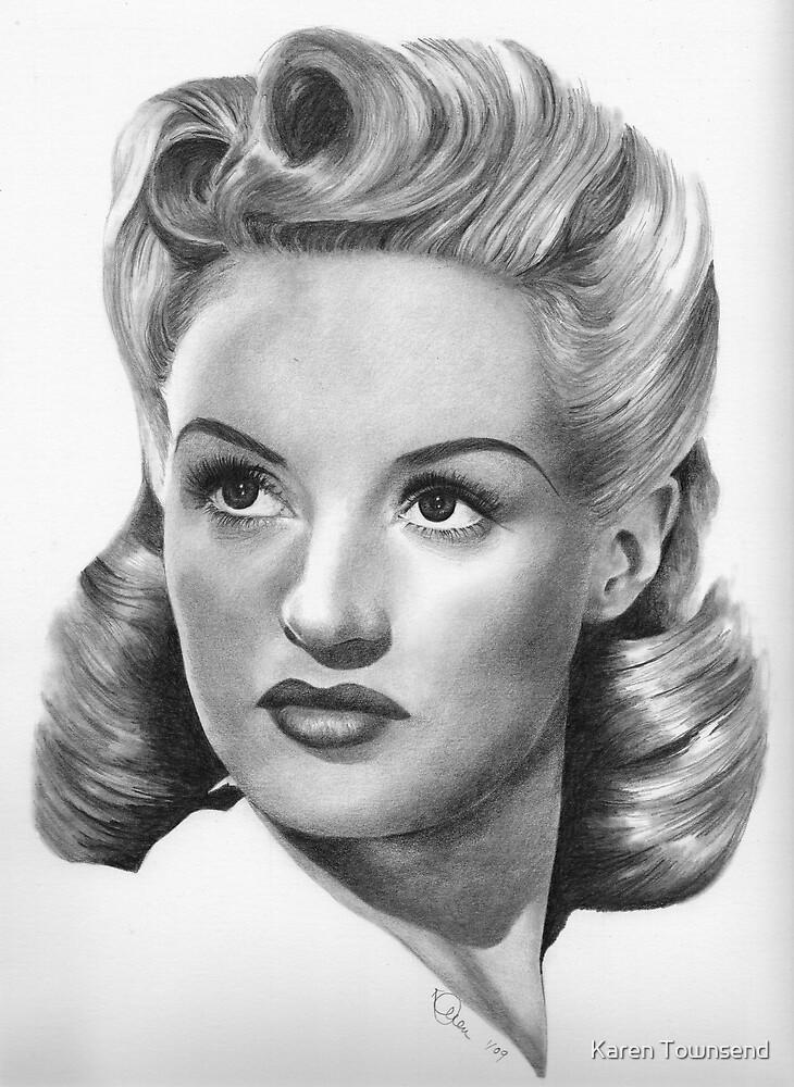 Betty Grable by Karen Townsend