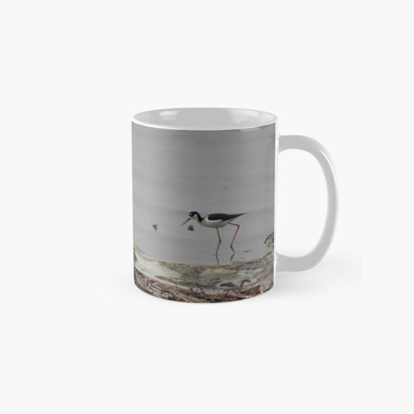 Black Neck Stilt and Painted Ladies Butterflies at North Shore Salton Sea 2 Classic Mug