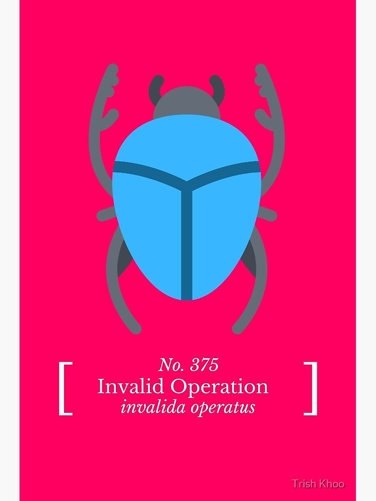 Invalid Operation by hogfish