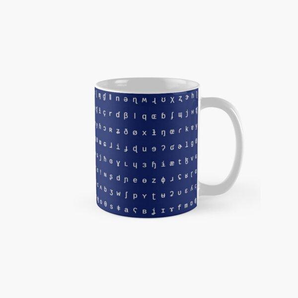 IPA mug - navy blue and white Classic Mug
