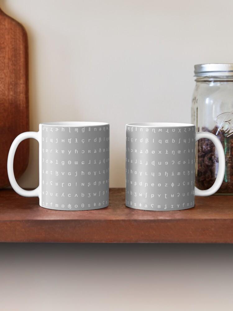 Alternate view of IPA mug - grey and white Mug