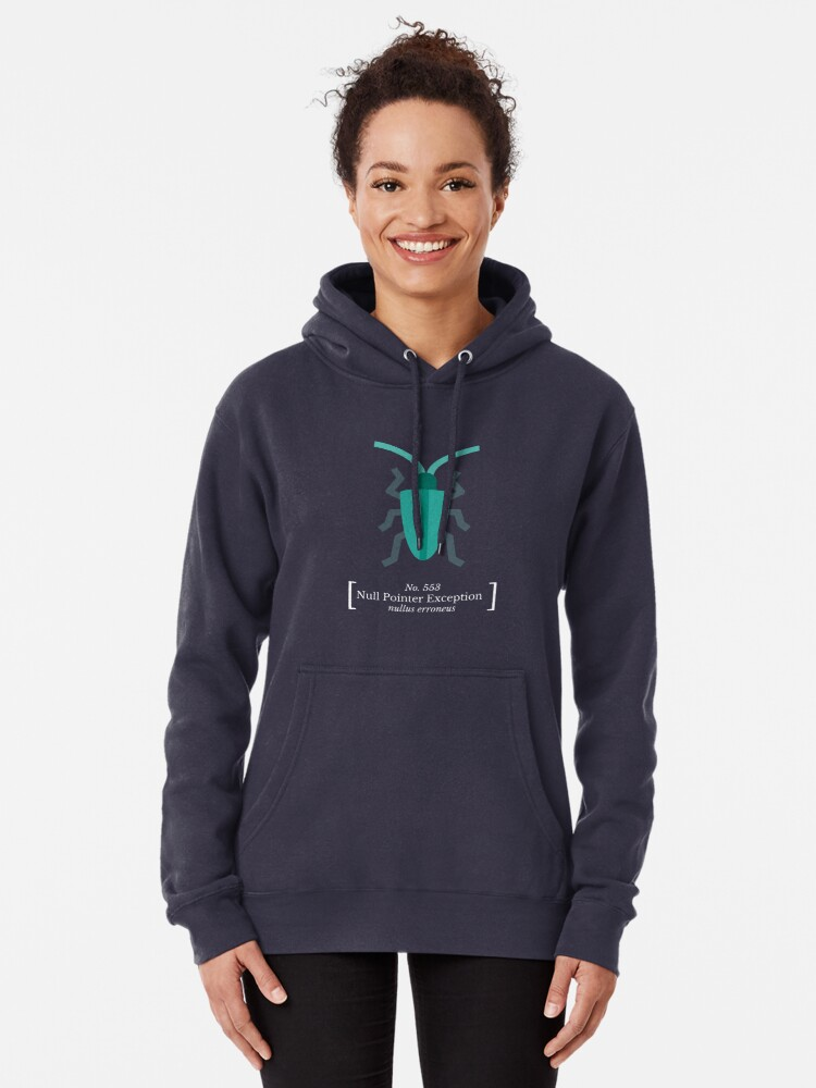 Alternate view of Null Pointer Exception Pullover Hoodie