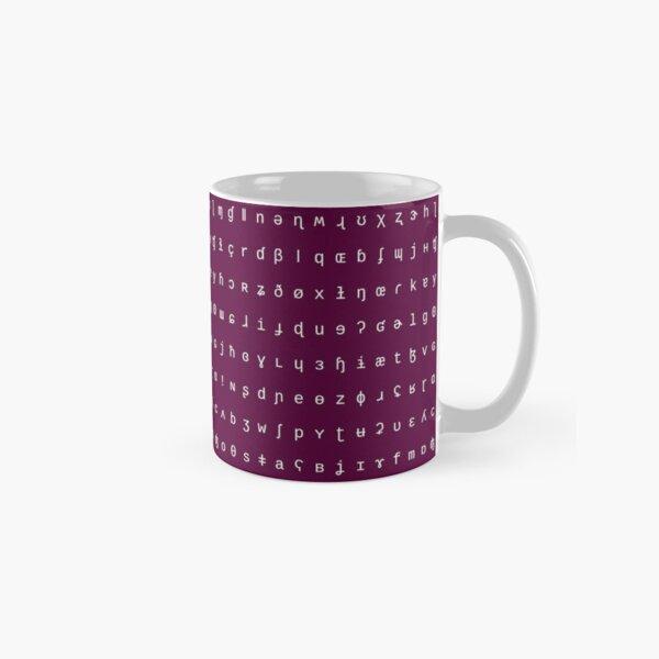 IPA mug - purple and white Classic Mug