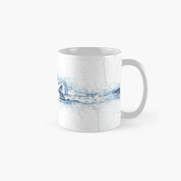 Sydney Opera House blue ink Classic Mug