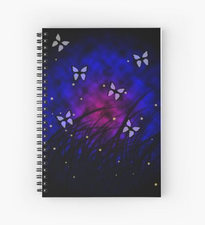 Butterflies at Night Spiral Notebook