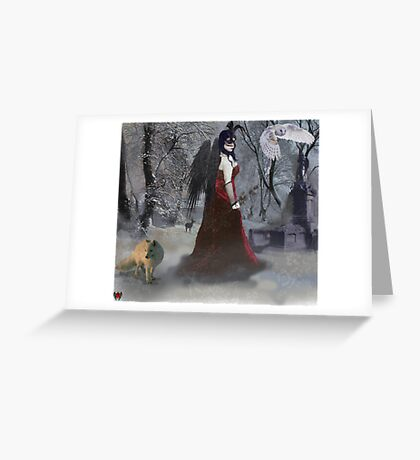Cold Regrets (winter) Greeting Card