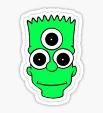 Bart Simpson Alien Sticker