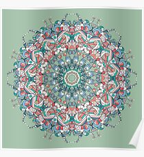 Circle lace organic ornament Poster