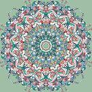 Circle lace organic ornament by miroshina