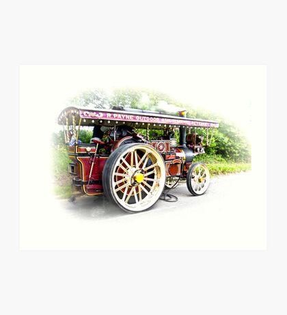 Steam Traction Engine #3 Art Print