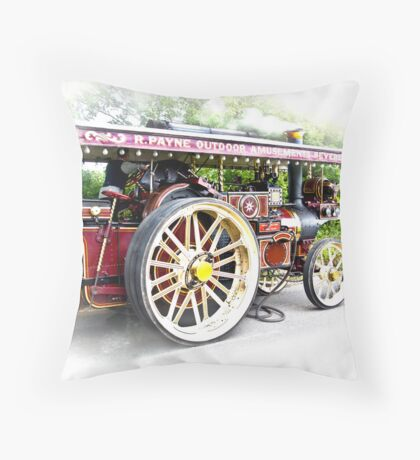 Steam Traction Engine #3 Throw Pillow