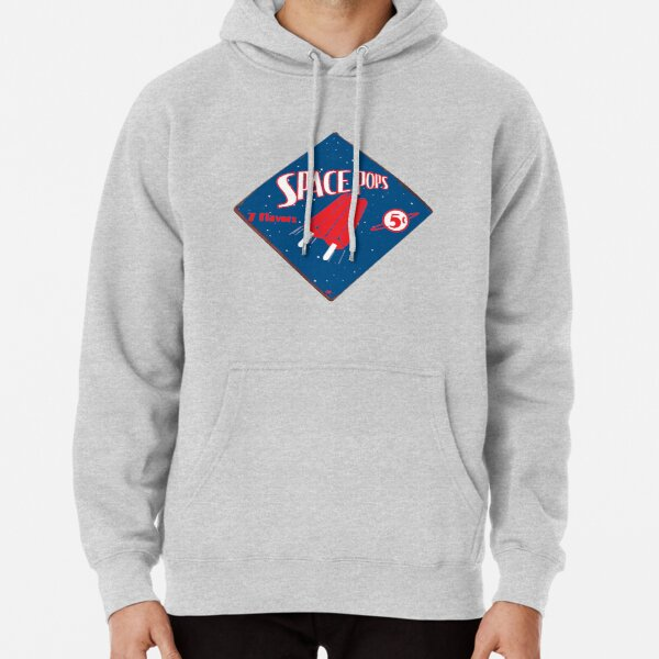 Retro Space Pop Sign Pullover Hoodie