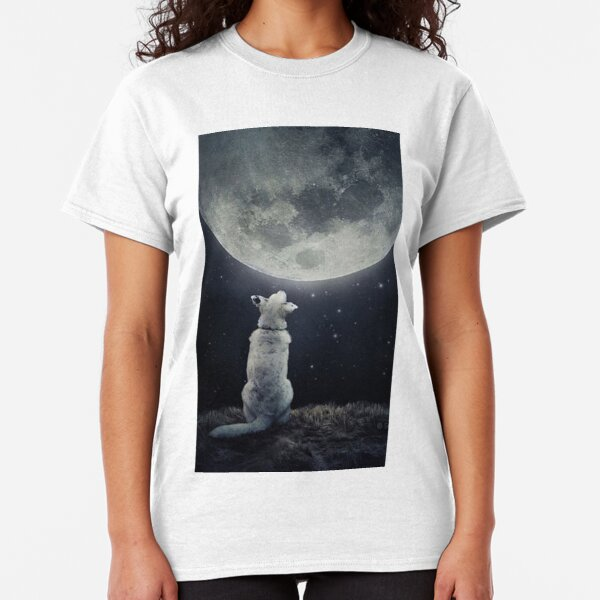 Dog and Moon Dream Classic T-Shirt