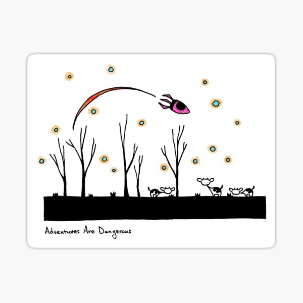 Snowy Cows in Apocalyptic Radioactive Dust-Snow Forest Sticker