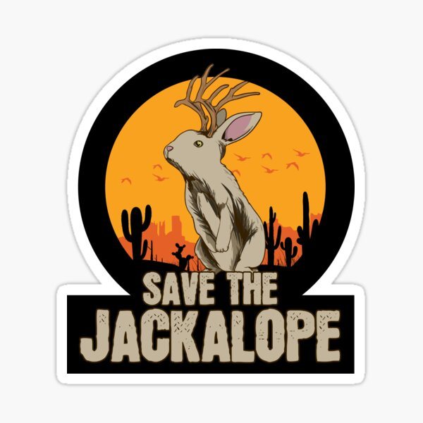 Save The Jackalope Mythical Mystical Creature Sticker