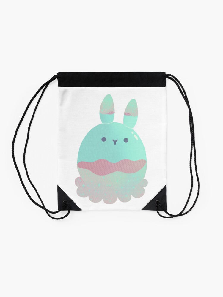 Alternate view of Water Bunny - Candy Drawstring Bag