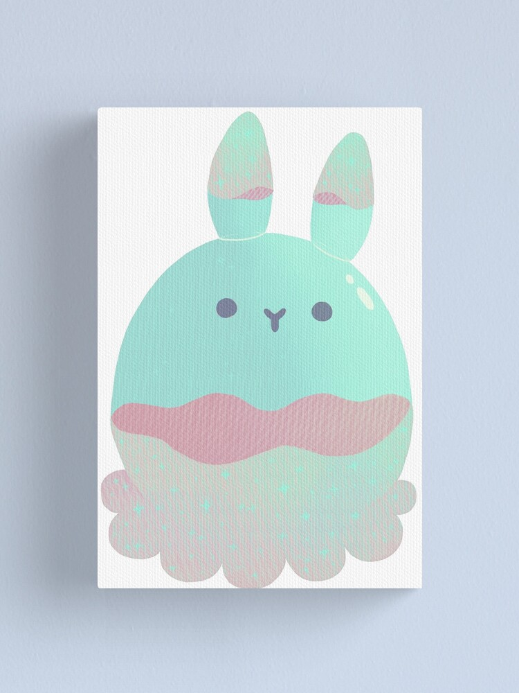 Alternate view of Water Bunny - Candy Canvas Print