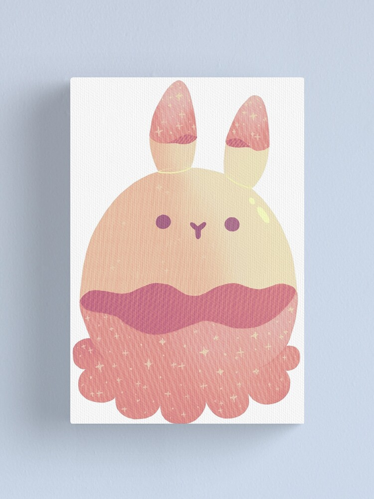 Alternate view of Water Bunny - Pink v2 Canvas Print