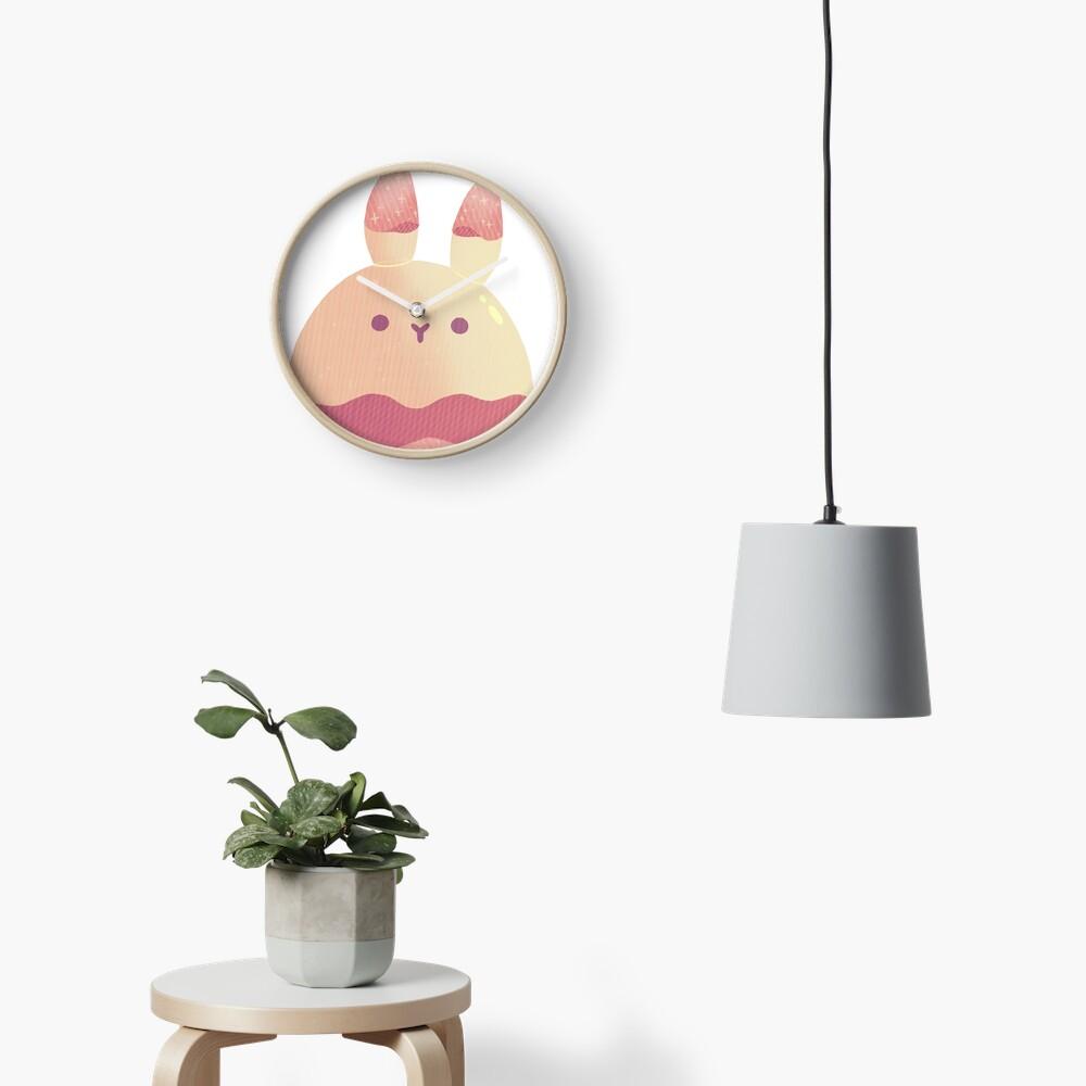 Water Bunny - Pink v2 Clock