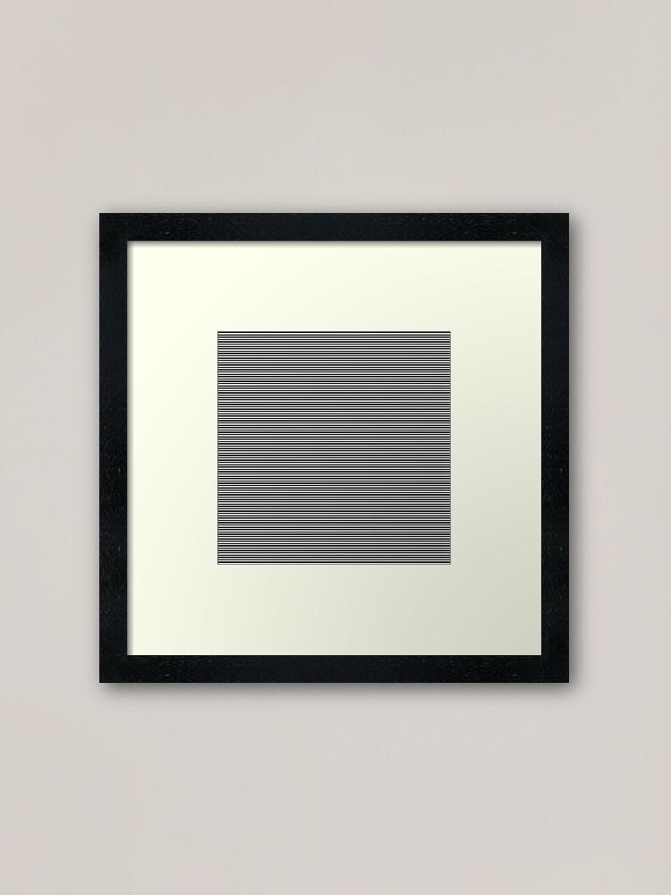 Alternate view of #abstract, #steel, #design, #pattern, metallic, aluminum, modern, square, stainless steel, art, textured, iron - metal Framed Art Print