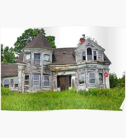 Abandoned House, Route 1, Searsport, Maine Poster