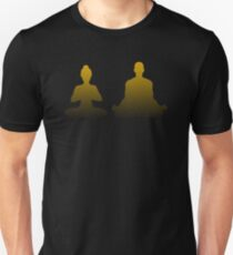 Yoga und Meditation als Paar Slim Fit T-Shirt