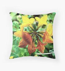 Fancy Lotus Corniculatas Throw Pillow