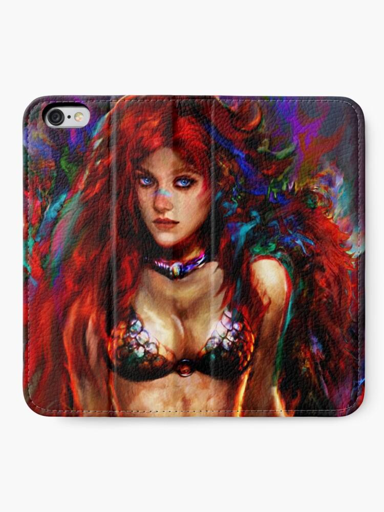 Alternative Ansicht von rote Sonja iPhone Flip-Case